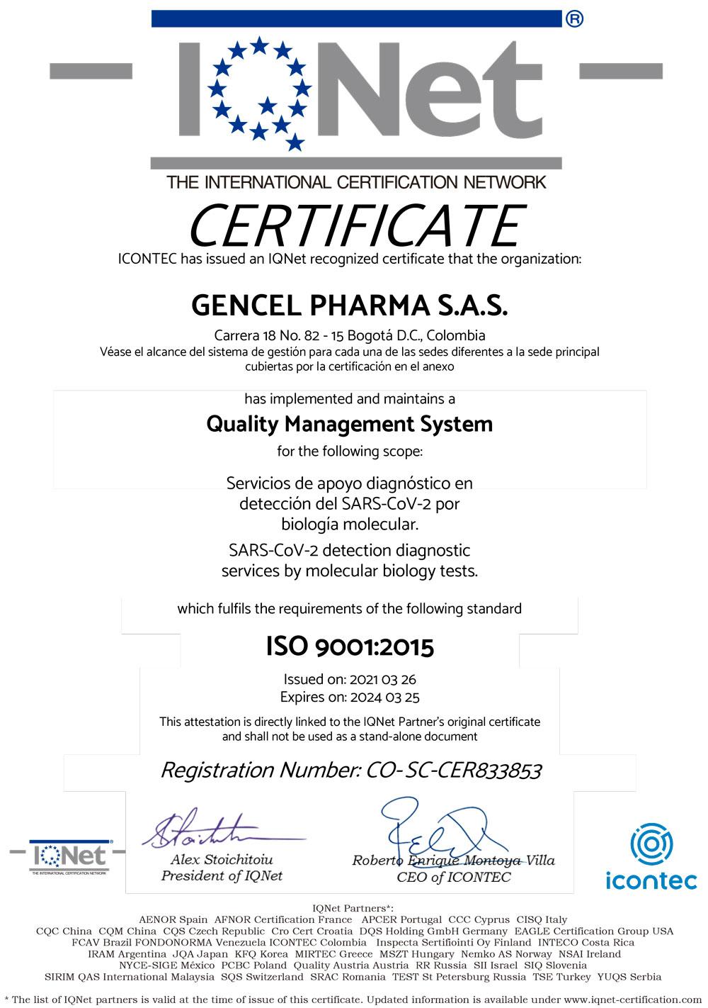 IQNET - Gencell Pharma